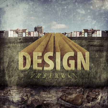 3d text grungy landscape 450x450 20 Best 3D Typography Tutorials   Part 1