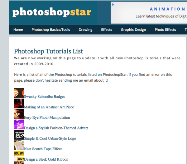 Screen Shot 2014 07 09 at 9.55.41 PM 600x528 60 Best Photoshop Tutorial Sites For Beginners to Advanced