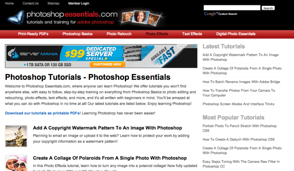 Screen Shot 2014 07 09 at 9.57.00 PM 600x349 60 Best Photoshop Tutorial Sites For Beginners to Advanced