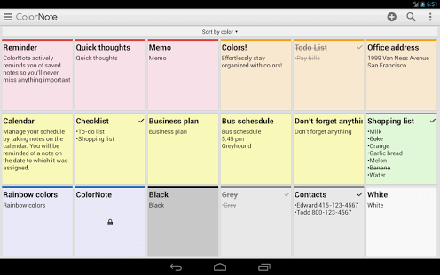 ColorNote Notepad Notes 100 Best Free Android Apps for Superusers