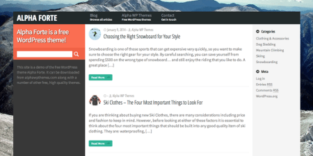 Alpha Forte 450x225 75 Best Free Wordpress Themes of 2014 Till July