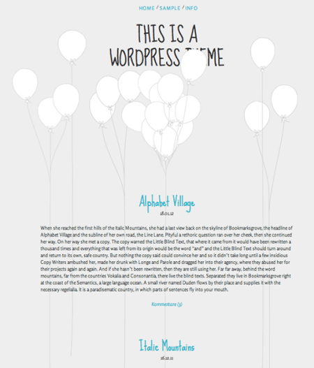 Balloons 450x527 75 Best Free Wordpress Themes of 2014 Till July