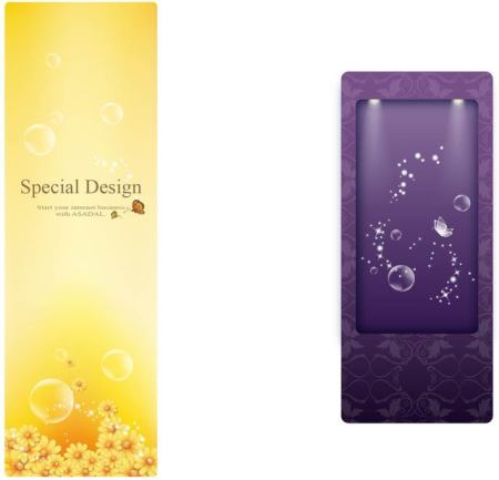 Brochure Template and Crystal Background