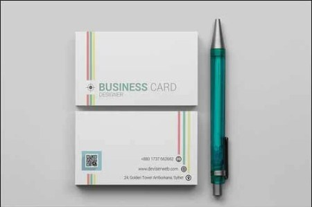 Colorful Line Free Business Card Template