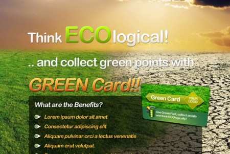 Eco Flyer Free Bonus Card psd 450x301 75 Best Free Business Card Templates Worth Downloading
