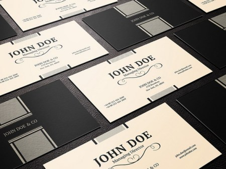 Elegant business card PSD template