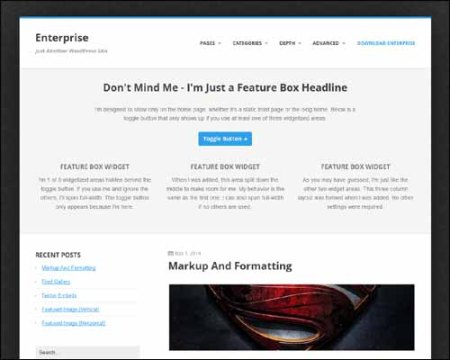 Enterprise Free WordPress Theme