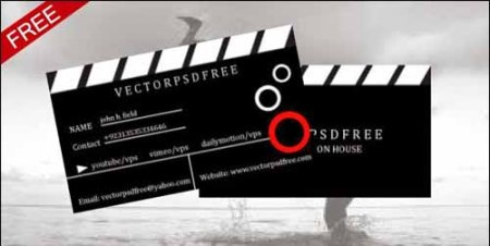 Film Maker and Production House Free Business Card PSD Template