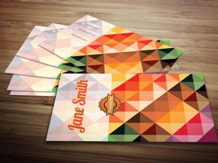 Free Polygon Business Card Template