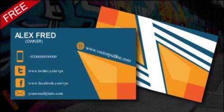 Graffiti Abstract Style Free Business Card PSD Template