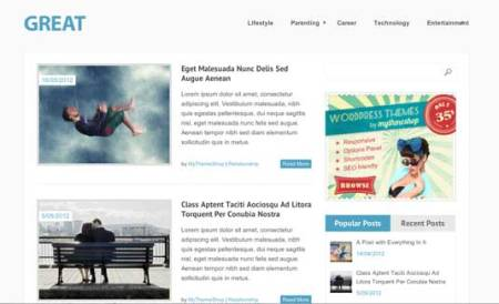Great 450x274 75 Best Free Wordpress Themes of 2014 Till July