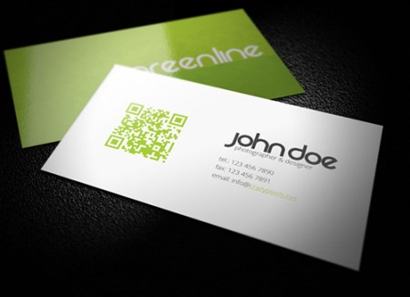 Green Business Card Template 450x326 75 Best Free Business Card Templates Worth Downloading