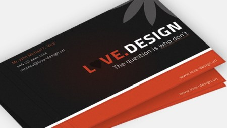 Love Design Business Card PSD 450x253 75 Best Free Business Card Templates Worth Downloading