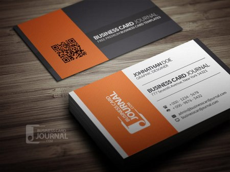 Modern Corporate Business Card PSD Template 450x337 75 Best Free Business Card Templates Worth Downloading