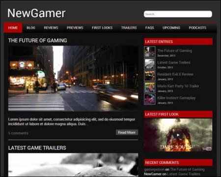 NewGamer Free WordPress Theme