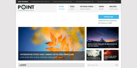 Point 450x225 75 Best Free Wordpress Themes of 2014 Till July