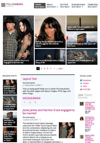 Polar Media 419x600 75 Best Free Wordpress Themes of 2014 Till July