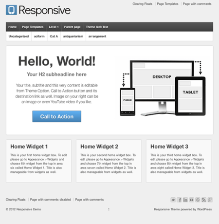 Responsive 450x460 75 Best Free Wordpress Themes of 2014 Till July