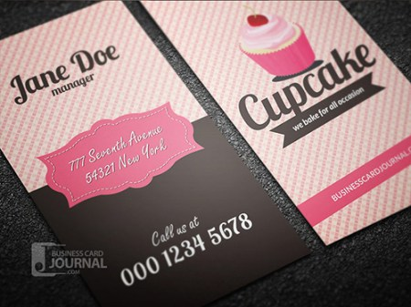 Retro Style Cupcake Business Card Template