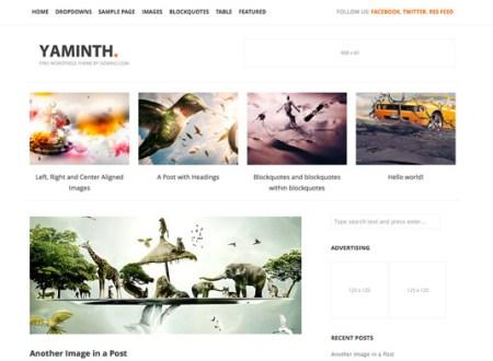 YAMINTH 450x330 75 Best Free Wordpress Themes of 2014 Till July