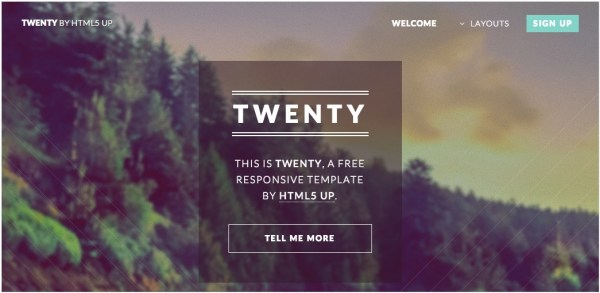 twenty 600x293 50+ Best Free HTML5 Templates (Responsive) Download