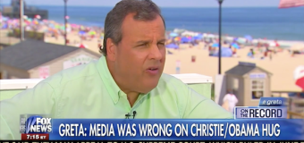 "Greta apologizes to Christie: ""that's no hug"""