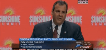 "Christie in Florida: I'll be a president ""who sees the world as it really is"""