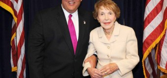 "Christie remembers Nancy Reagan, her husband's ""rock"""