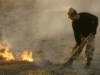 Тушение степного пожара. Калмыкия