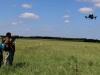 Квадрокоптер DJI Inspire 1 в полете над Стрелецкой степью. Фото предоставлено Центрально-Черноземным заповедником