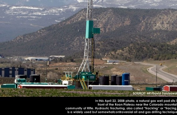 Save the water Fracking Photo by AP