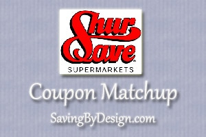 ShurSave Coupon Matchups 1/6 – 1/12