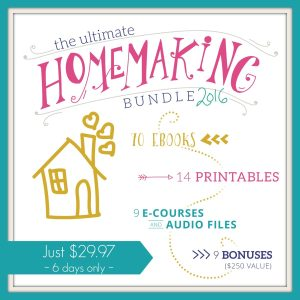 The Ultimate Homemaking Bundle 2016 is Here! {6 days only}