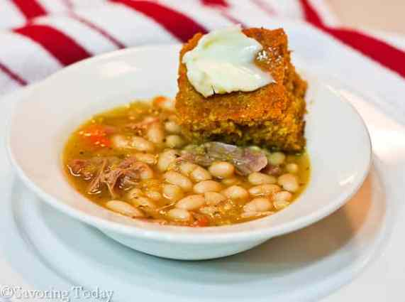 Smoked Turkey Bean Soup: simple to make on the stove or in a crockpot