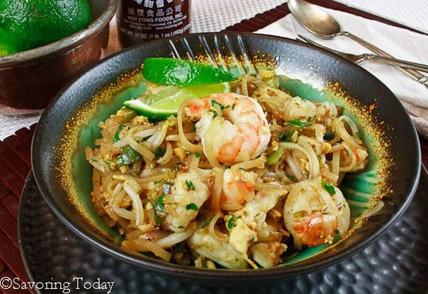 Pad Thai with Shrimp is an easy weeknight dinner in about 30 minutes.