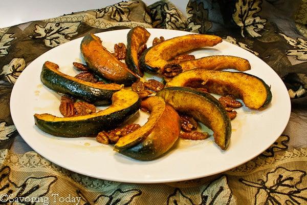 Acorn Squash w- Curry Spice & Pecans   Savoring Today
