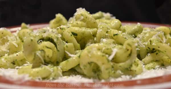 Guest Post -- ramps-pesto over Vesuvio pasta-5