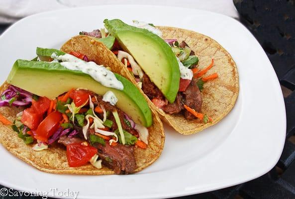 Buttermilk-Cilantro Skirt Steak Tacos | Savoring Today