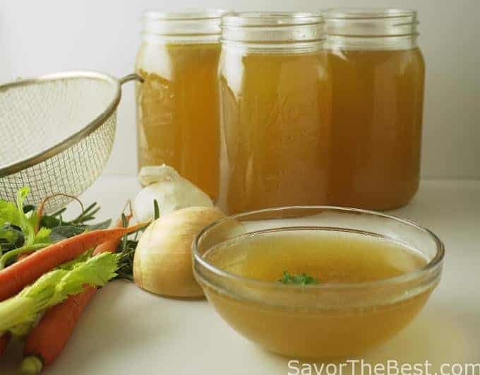 how to make chicken broth with chicken carcass