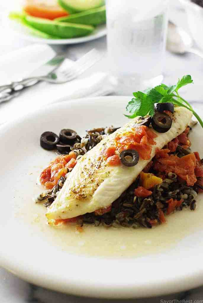 Spicy tilapia with wild rice savor the best for Fish and rice diet