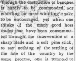 Whittling Bench Article (1908)