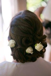White roses hair up