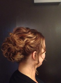 Hair up - messy bun