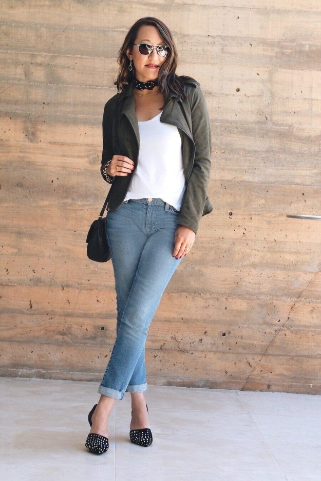 off-duty-style-olive-green-moto-jacket-with-jeans
