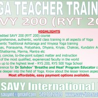 SAVY 200 Yoga Teacher Training (RYT 200)