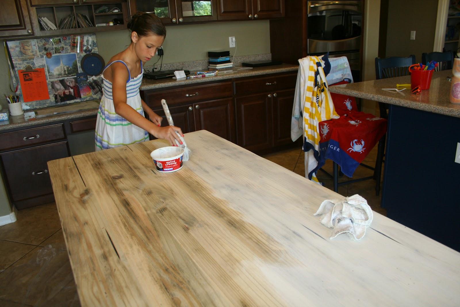 farmhouse table whitewash kitchen table Then