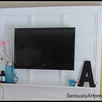 How to Hide TV Cords in Trim Work - Guest Post