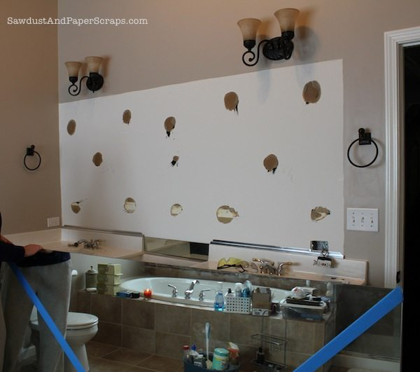The Girl In The Brick House Help Bathroom Lighting: How To Remove Builder Mirrors