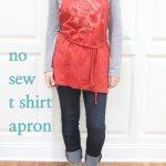 t-shirt apron tutorial