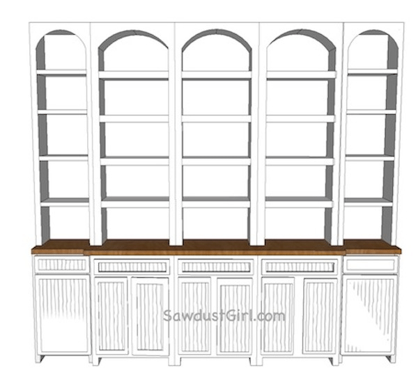Dining room buffet built in style options and conundrums for Built in dining room buffet ideas